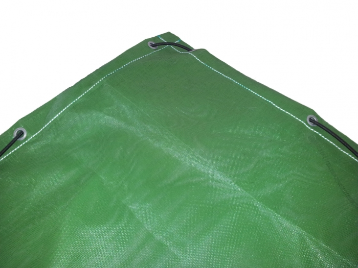 Rubber-coated PES fabric air permeable 260g /m² for containers & skips