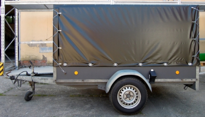 Heavy Duty 630g /m² Single Axle Box Trailer with Cage & Cover | HENRA