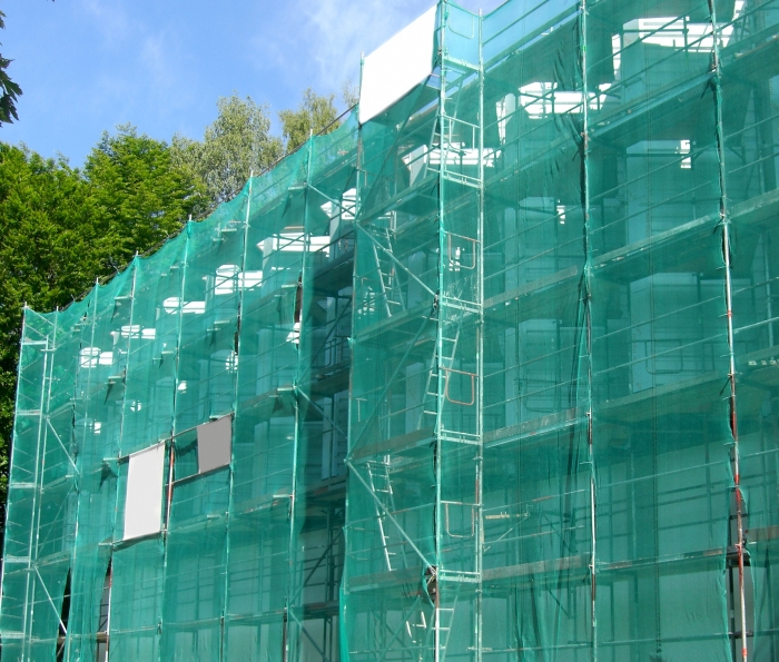 Scaffold cladding disposable anti-dust net safety net 75g/m²