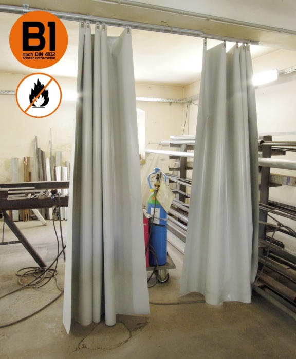 Side protection | Welding curtain PVC curtain 630g /m² DIN 4102 B1