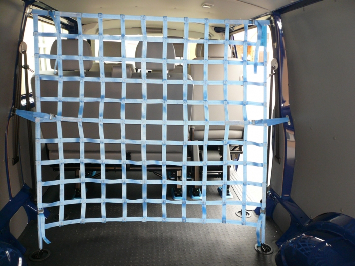 Cargo safety nets for vans strap net 25mm