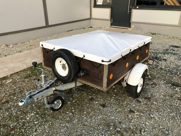 Fitted Utility Trailer Covers waterproof PVC flatbed 630g /m²