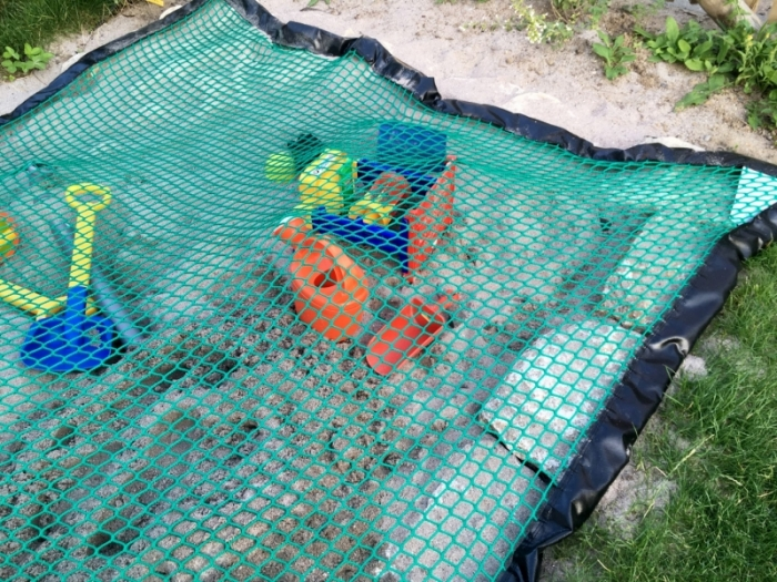 Sandpit net cover with chain sandbox PP 30/3