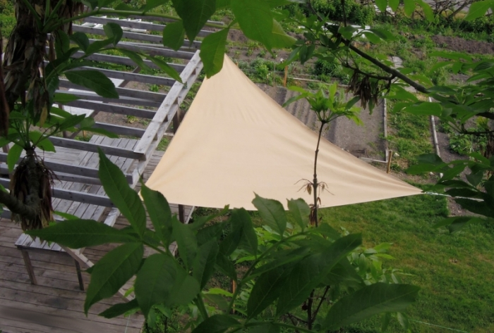 Triangle awning sail sun protection 230g / m² 4,5x4,5x4,5m