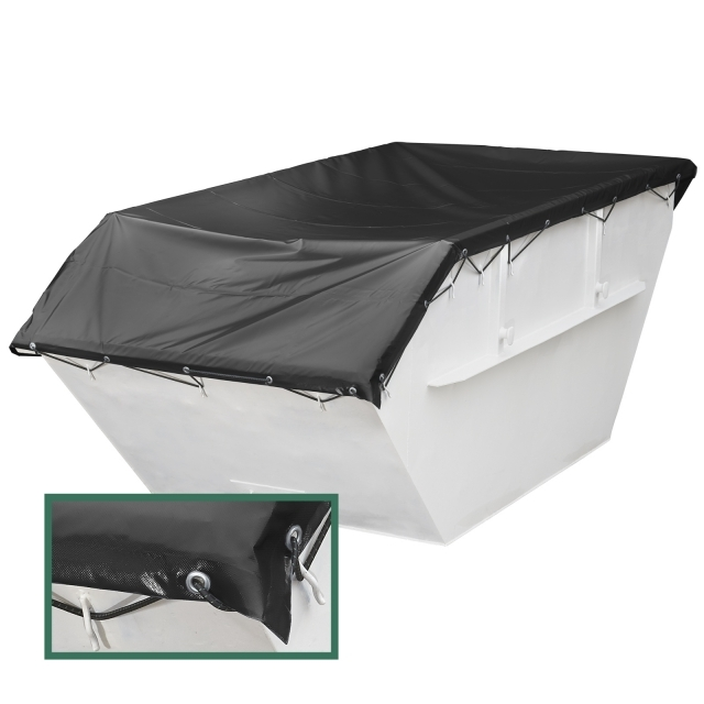 Waterproof container tarpaulin PVC 630g /m² mini containers & skips
