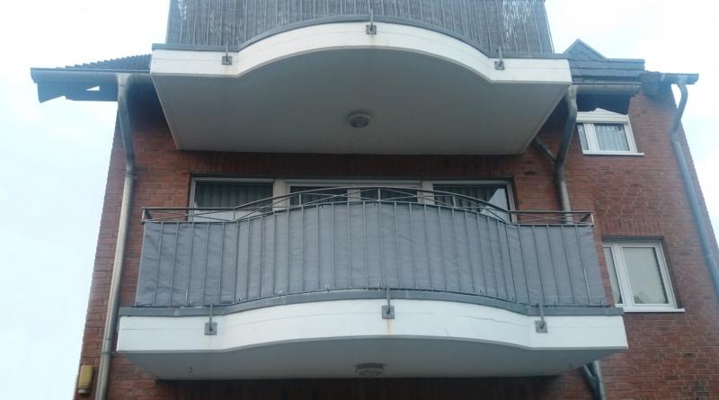 Antracite HDPE 180 g//m/² Protezione UV Resistente al Vento con Fascette HENG FENG 90 x300 cm Frangivista per Il Balcone