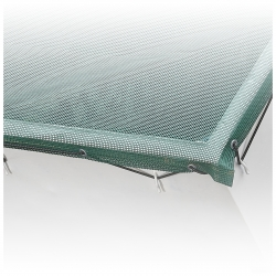 PVC screen | mesh fabric, air permeable, 650g /m² container skips