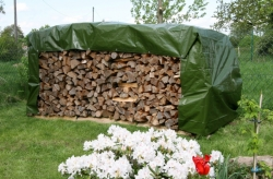 Wood pile cover HDPE tarpaulin 220g /m² waterproof