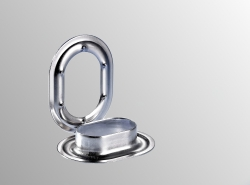 Oval eyelet stainless steel 22,5x13,5mm Nirosta