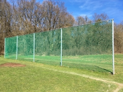 Ball net PP knitted fine-meshed 45/3 with edge cord catch fence cross beam