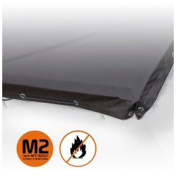 M2 Heat-resistant PES tarpaulin cover with silicone coating 360g /m²