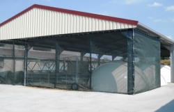 Windscreen breathable weather protection barns warehouses agricultural